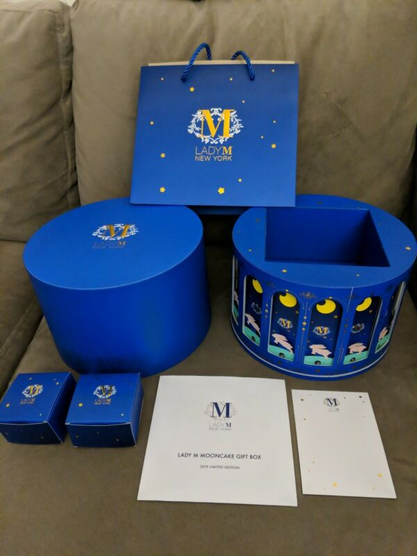 Lady M 2019 Mid-Autumn Mooncake Gift Box and Bag Limited Edition