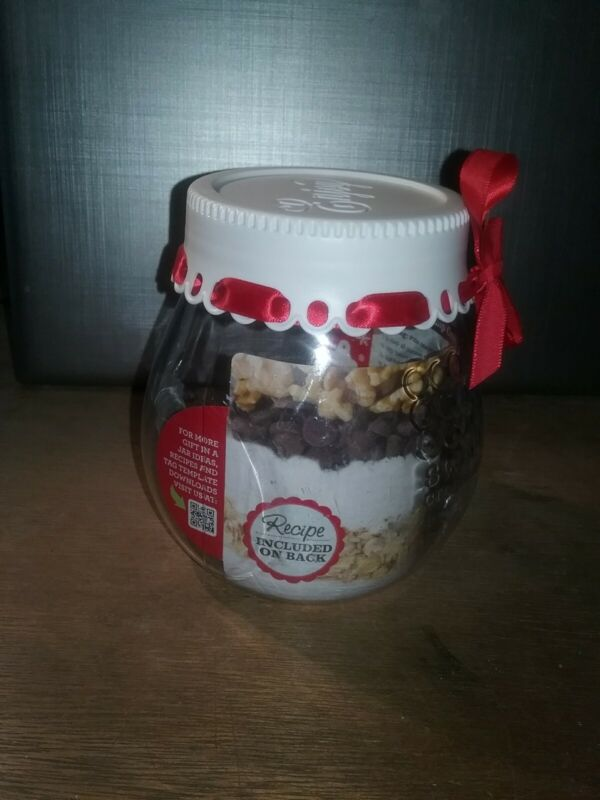 FINAL LISTING Sweet Creations Christmas Holiday Giftable Jar for Cookie Mix Red