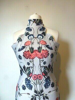 Hope & Ivy H/Neck Midi Pencil Placement Print Dress Size 6 Uk BNWT RRP £65 Blue