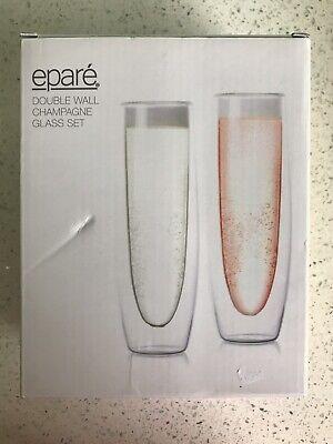 Eparé Double Champagne Glass -