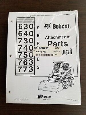 New Bobcat 630 640 730 740 750 763 773 Attachments Parts Manual - Pn 6556773