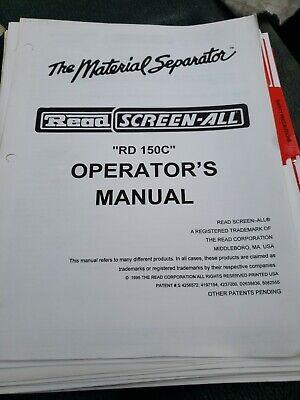 Read Rd-150c Portable Screening Plant Conveyor Owners Manual