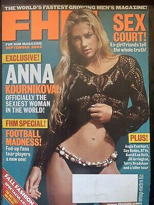 September 2002 FHM Magazine - Anna Kounikova