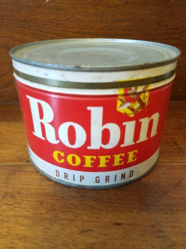 Robin Coffee Tin 1lbs.