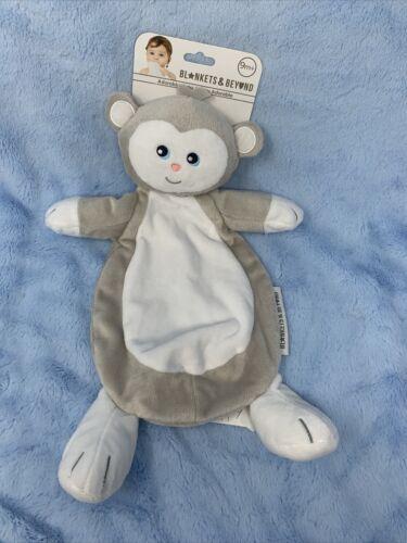 Blankets Beyond Tan White MONKEY Baby Security Blanket Nunu - $39.59