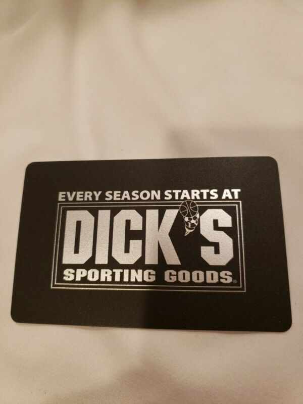DICKS SPORTING GOODS GIFT CARD. Value $284.25. Physical Card - No expiration.