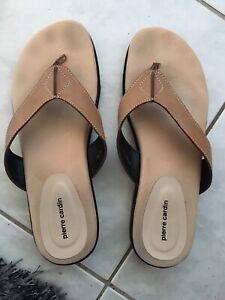 Pierre cardin flip flops size 8. Genuine