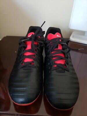 Nike Tiempo Legend 7 Club FG Black Crimson Men's Size 8 Soccer Cleats