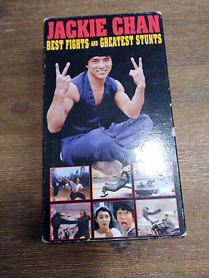 Jackie Chan Best Fights and Greatest Stunts VHS 2 Tapes - RARE