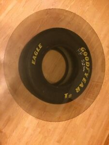 NASCAR tire & glass coffee table