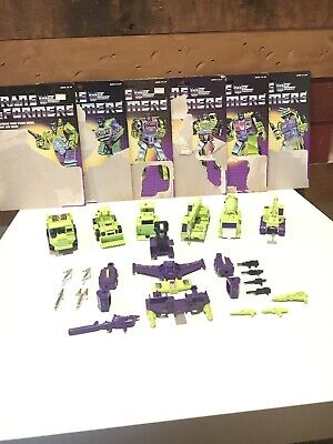Constructicons Devastator G1 Vintage Transformers 1984 Cardbacks Complete
