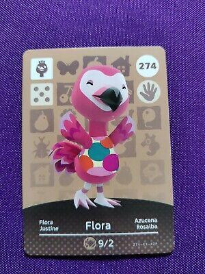 Animal Crossing Official Amiibo Card - Series 3 #274 - Flora