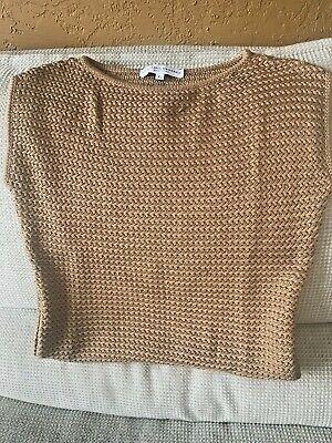 Carolina Pullover (Carolina Herrera Ladies Toast Colored Heavy Knit Silk Pullover Sweater Size L)