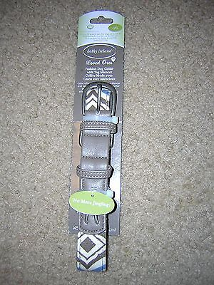 NEW! Kathy Ireland Loved Ones Fashion Dog Collar with Tag Silencer Size L/G