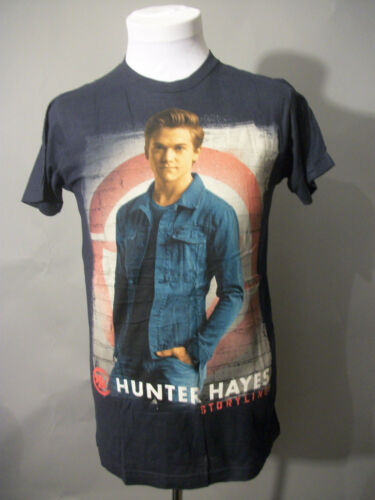 NWOT HUNTER HAYES STORYLINE BLUE TOUR CONCERT T-SHIRT ADULT SMALL TULTEX BRAND