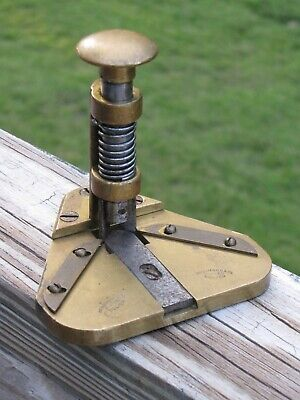 VINTAGE ANTIQUE RARE GEORGE MASON & CO. BRASS PLAYING CARD CORNER ROUNDER CUTTER