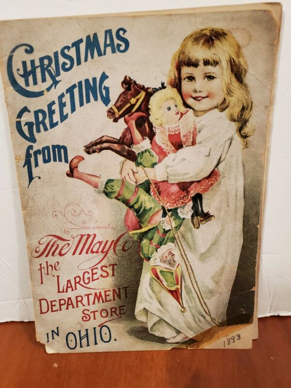Very old Department store Christmas Greeting from The May Co. Cleveland, O 1893