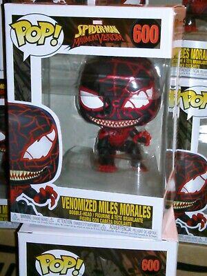Funko Pop  Marvel Spider-Man Max Venom VENOMIZED MILES MORALES #600 +Free EcoTEK