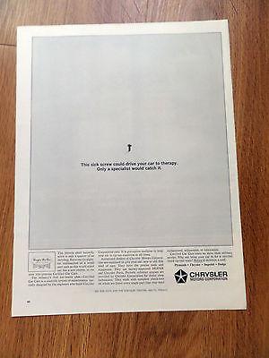 1964 Chrysler Ad  Throttle Shaft Butterfly Screw
