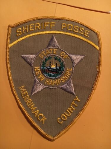Merrimack County Sheriff New Hampshire Vintage Police Patch version 1