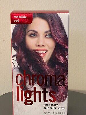 Chroma Lights Temporary Hair Color Spray Metallic Red 1.5 oz. NEW
