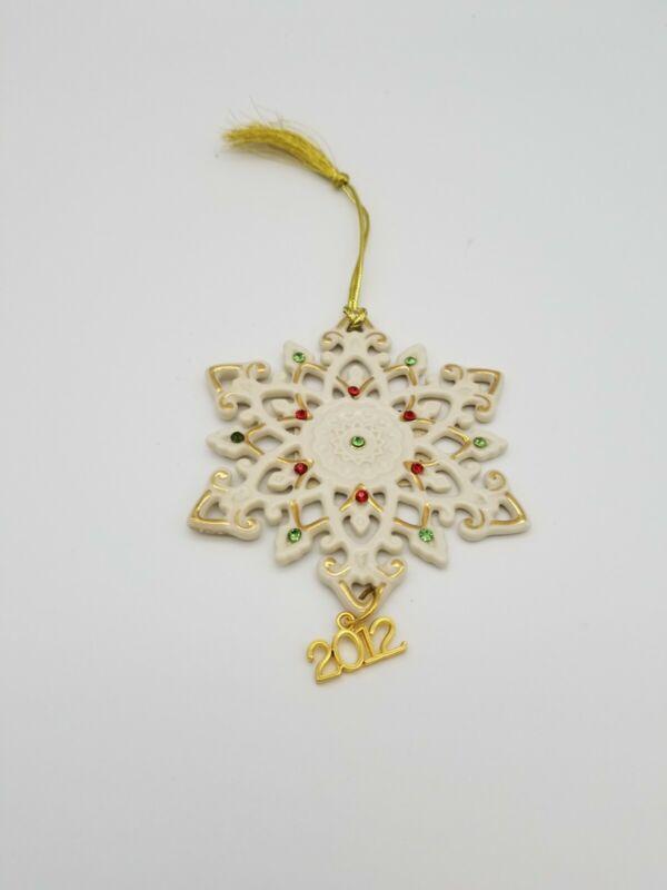 Lenox 2012 Annual Snowflake Ornament Jeweled Gem