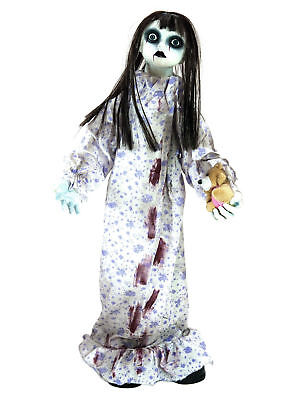 Halloween Puppe animiert stehend Schocker Grusel Partydeko Zombie