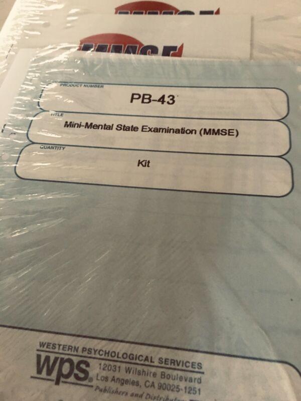 Psychological Test- New Unopened Mini-Mental Status Examination Kit