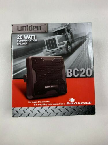 Uniden BC20 20 Watt External CB Radio Police Scanner Speaker w/3.5mm Plug NEW