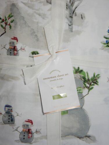 Pottery Barn Snowman Full Sheet Set