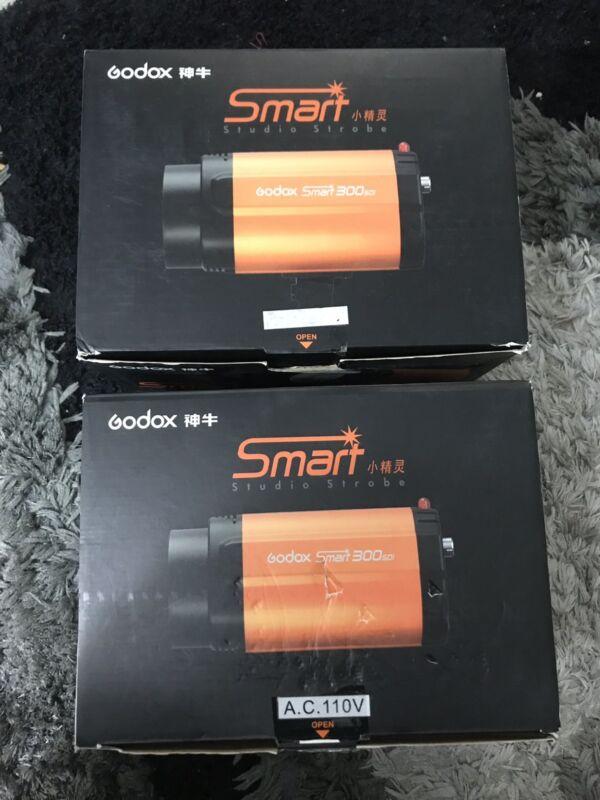 2 Godox 300SDI Photography Smart Studio Strobes