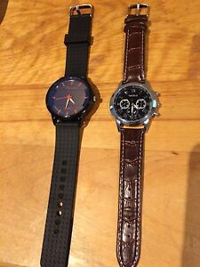 2 new round face watches