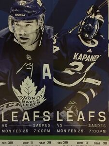 Toronto Maple Leafs vs. Buffalo Sabres - Mon. Feb. 25