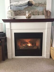 Propane Fireplace and Mantle