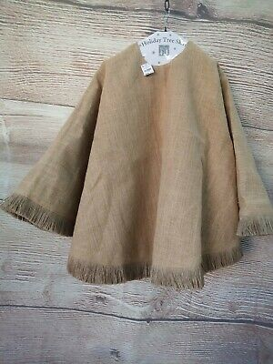 NWT Tree Skirt Brown Jute Burlap Fringed 54 Inch Round Christmas Holiday Rustic ()