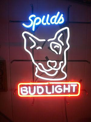 - New Spuds MacKenzie Bud Light Budweiser Beer  Neon Sign 20