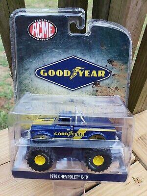 CHASE Greenlight ACME Goodyear 1970 Chevrolet K-10 Monster Truck Green Machine