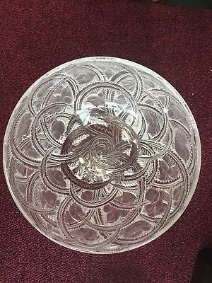 Lalique French Crystal Pinsons Bird Pattern Bowl