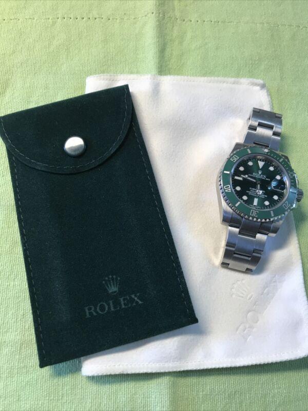 Genuine New Rolex service Velvet travel Pocket Pouch W/ First edition cloth set