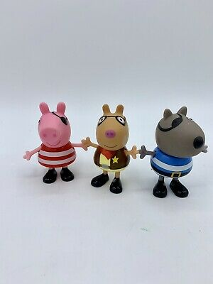 Peppa Pig Halloween Dress Up Figures Lot Danny Dog Pedro Pony Pirates Sheriff