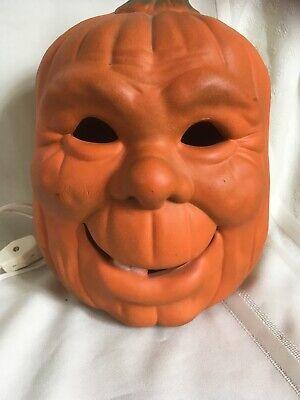 Vintage Ceramic Light Up Halloween Punpkin Jack'o'lantern Creepy Face Lamp - Halloween Jackolantern Faces