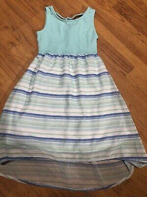 girls size 4 Nautica  dress Striped Cotton Spring