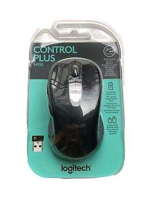 Logitech Control Plus M510 Wireless USB Black Receiver Mouse
