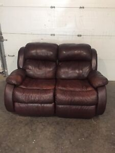 **** REDUCED**** Leather Love-seat Now $100