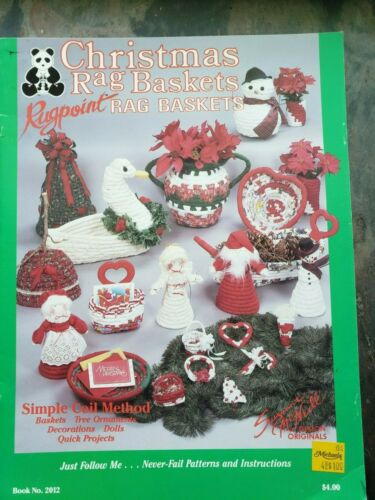 Christmas Rag Baskets Rugpoint Simple Coil Method Susanne McNeill  #2012