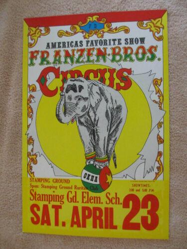 VINTAGE 1983 Stamping Ground Kentucky Franzen Bros. Circus Poster *