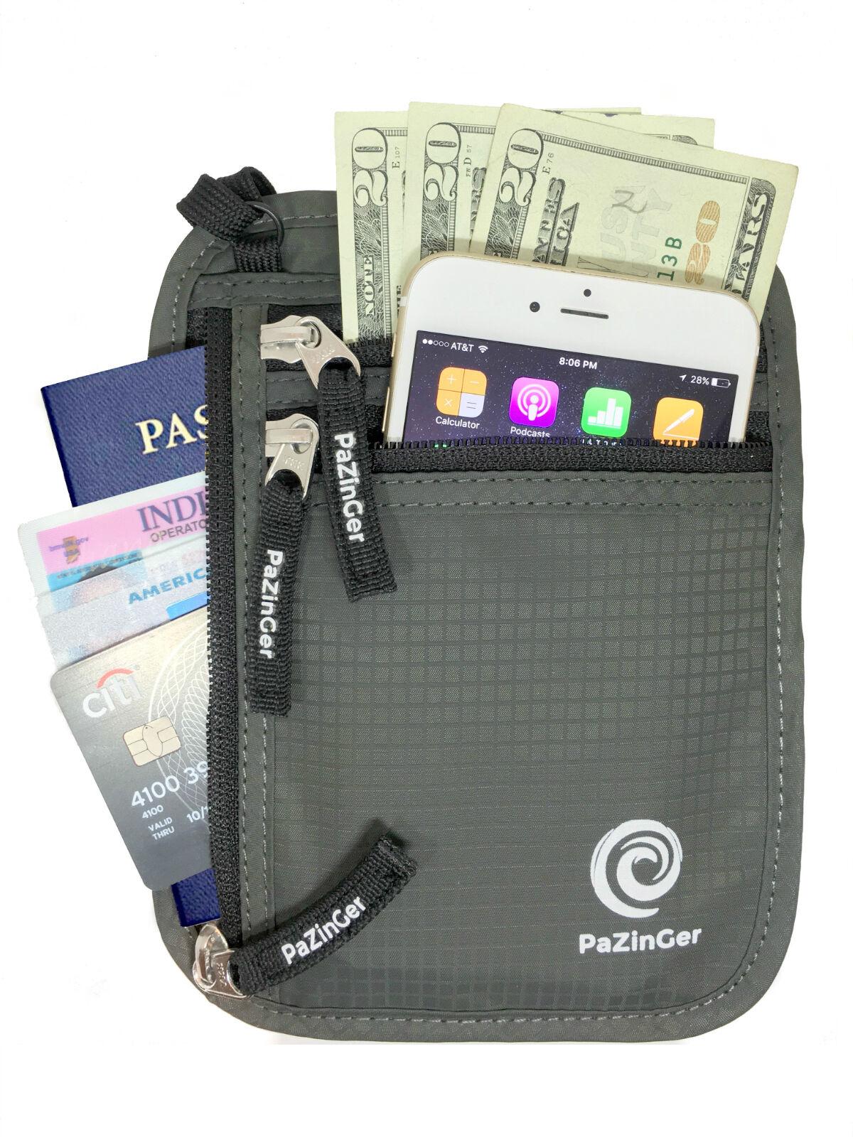 Travel Passport Credit ID Card Cash Wallet Purse Holder Case Document Bag Passport & ID Holders