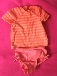 Bathing suit plus extra bottoms 9-12 months