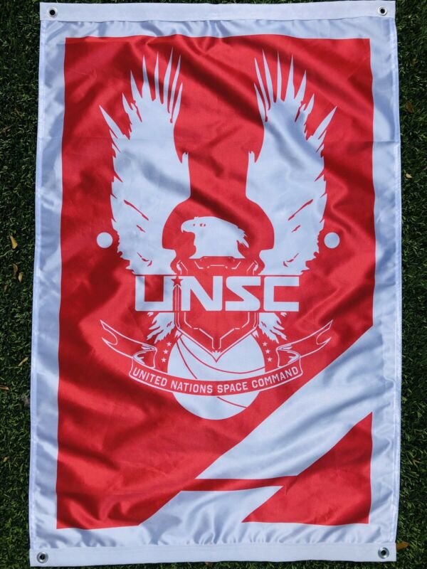 Halo UNSC Fan Art Red & Blue CTF Flag Set