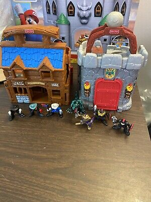 Fisher Price Great Adventures 1998 All-in-One Portable Castle Set & Western Fort